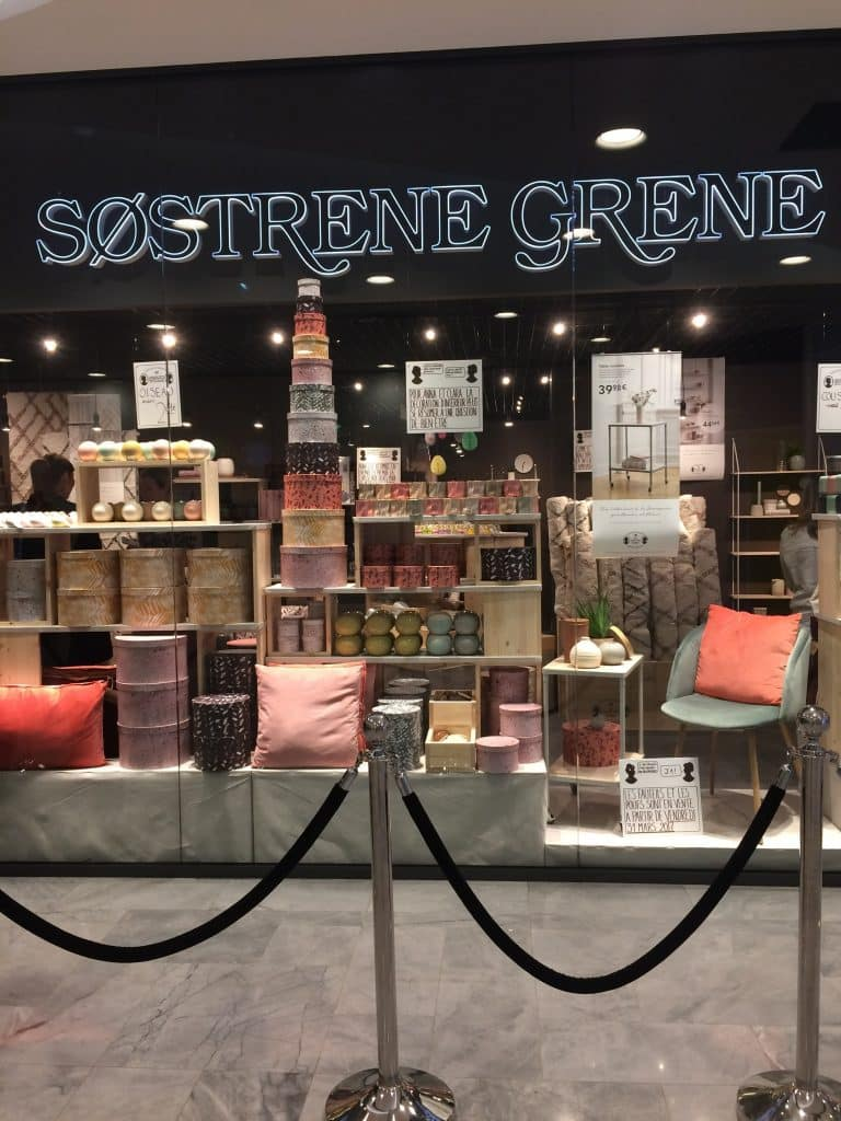 sostrene grene s 39 installe au forum des halles. Black Bedroom Furniture Sets. Home Design Ideas