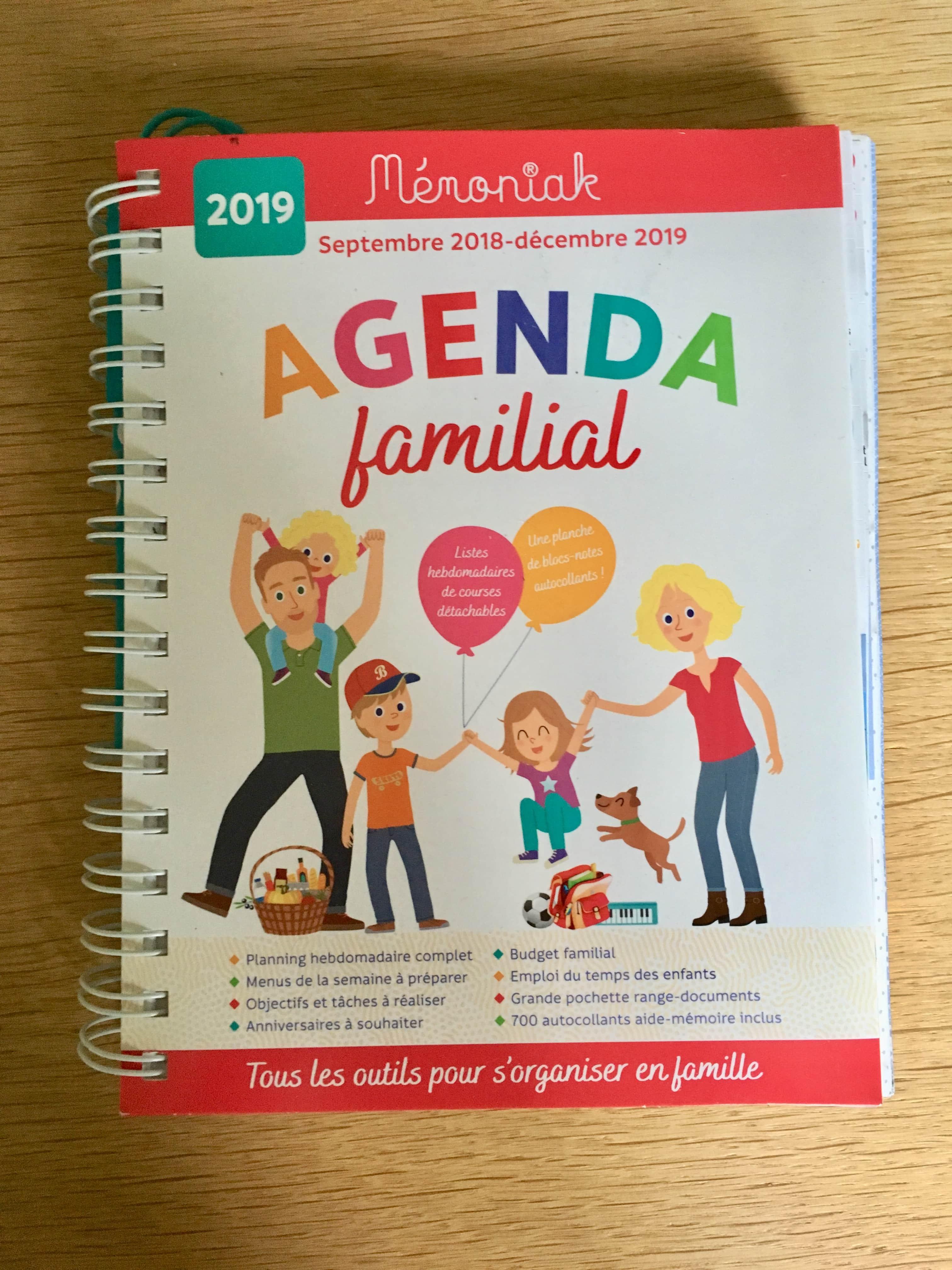 agenda familial Mémoniak